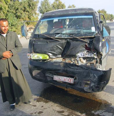 Autounfall in Elsabkha
