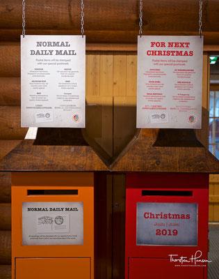 Briefkasten im Weihnachtsdorf in Rovaniemi