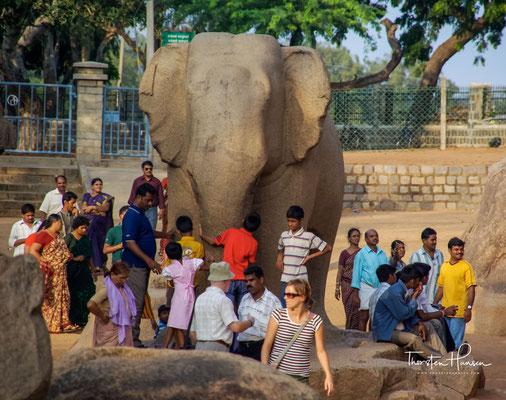 Elefantenfigur bei den Fünf Rathas