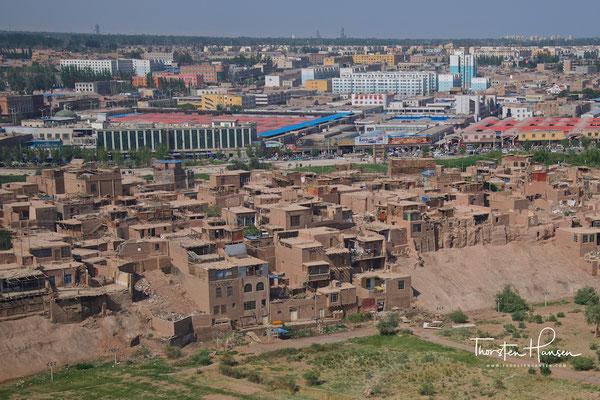 """Blick über das alte """"verlorene"""" Kashgar"""