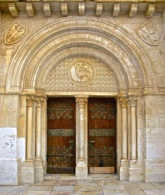 Westportal der Erlöserkirche in Jerusalem