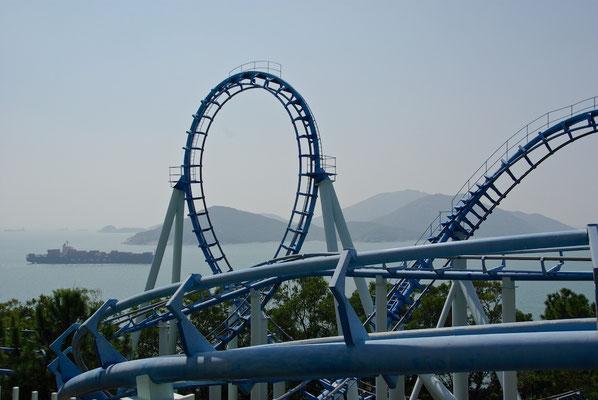 Rollercoaster im Ocean Park HK