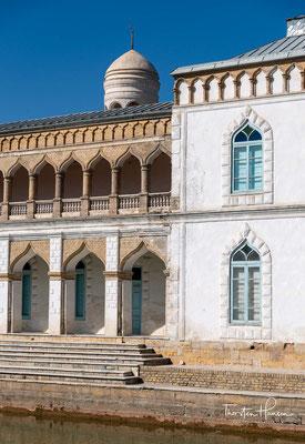 Mitte des 19. Jahrhunderts ließ Emir Nasr Allah (Regierungszeit 1826–1860) erstmals an dieser Stelle ein Sommerschloss erbauen, das jedoch nicht erhalten ist. Später ließ ein weiterer Emir dort ein neues Schloss errichten und benannte es Sitorai Mohi Xosa