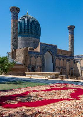 Das Gur-Emir-Mausoleum, Grab des Fürsten in der usbekischen Stadt Samarqand ist die Grabstätte Timur Lenks...