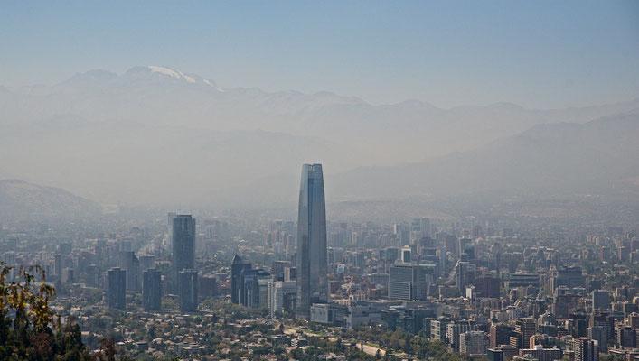 Panorama von Santiago de Chile