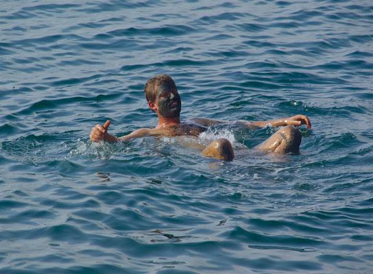 Baden in Toten Meer