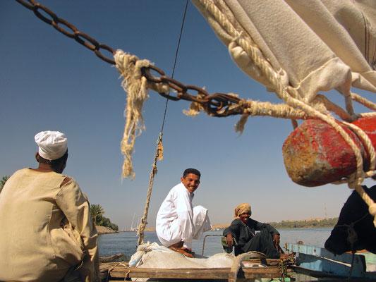 Felucca Nil Trip in Abu Sad