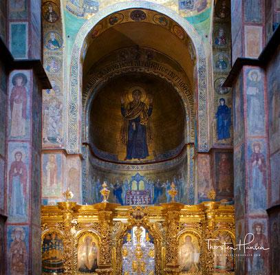 Mosaikbild der betenden Gottesmutter (Oranta)