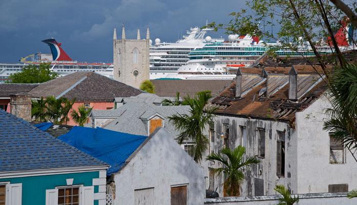 Blick vom Fort Fincastle über Nassau