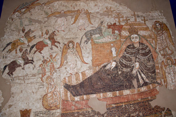 Fresken von Faras im Nationalmuseum in Khartoum