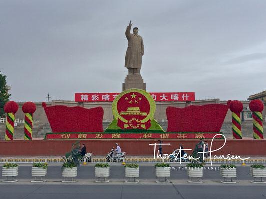 Mao Statue in Kashgar