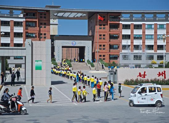 Schuldisziplin in Zhangye