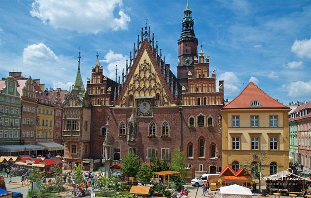 Das Breslauer Rathaus am Großen Ring