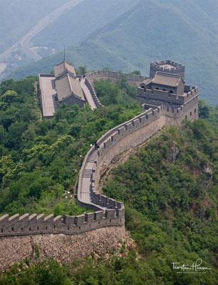 Panorama der chinesischen Mauer bei Mutianyu