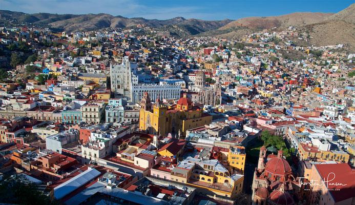 Universität und Kathedrale in Guanajuato