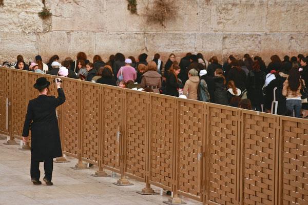 Abgegrenzter Bereich für Frauen an der Klagemauer