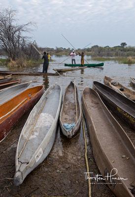 Mit dem Mokoro ins Okavango delta in Botswana