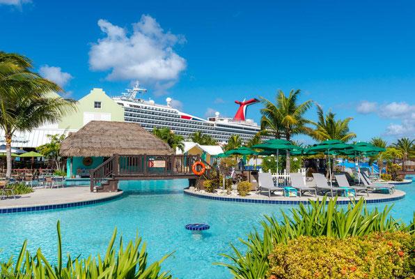 Das Grand Turk Cruise Center wird überwiegend von den diversen Marken der Carnival-Gruppe angelaufen.