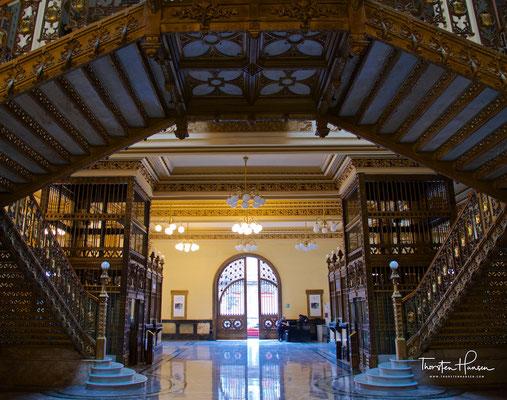 1902 bis 1907 errichtete Hauptgebäude der Post in Mexiko-Stadt