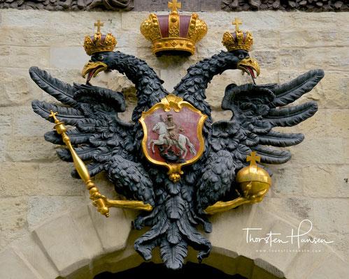 Zaren Wappen in der Peter und Paul Festung in St. Petersburg