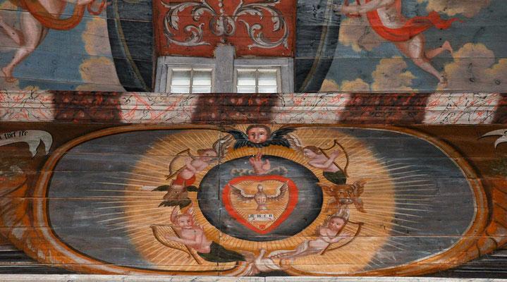 Die Darstellungen geben Luthers Katechismus wieder, der damals auswendig gelernt werden sollte. Die Bilder dienten als Unterstützung und waren vermutlich eine Idee des Pfarrers.