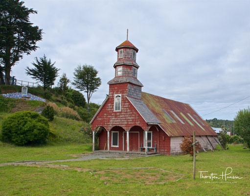 Hölzerne Kirche, Chiloe-Insel, Chile.
