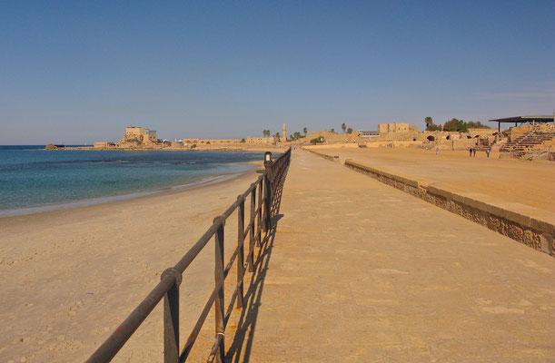 Caesarea Maritima war eine bedeutende antike Stadt Palästinas, später auch eine wichtige Festung der Kreuzfahrer