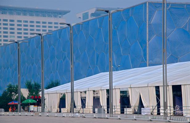 """Nationales Schwimmzentrum (""""Wasserwürfel"""") in Peking"""