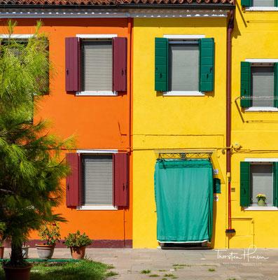Bunte Häuser sind typisch für Burano
