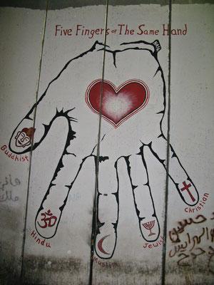 Fünf Finger an einer Hand