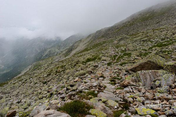 Beeindruckend thront der Schlegeis-kess mit hochalpinen Gipfeln wie dem Großen Möseler (3.480 m) oder dem Hochfeiler (3.509 m) über dem Schlegeisspeicher.