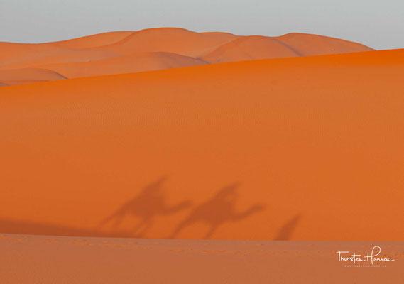 Von Erfoud, Rissani oder Merzouga aus bieten verschiedene Kleinunternehmer Kamelritte in die Dünen an.
