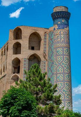 Die Moschee der Bibi Chanum gehört zu den bedeutendsten Sehenswürdigkeiten von Samarkand. Im 15. Jahrhundert war sie eine der größten und prächtigsten Moscheen der islamischen Welt.