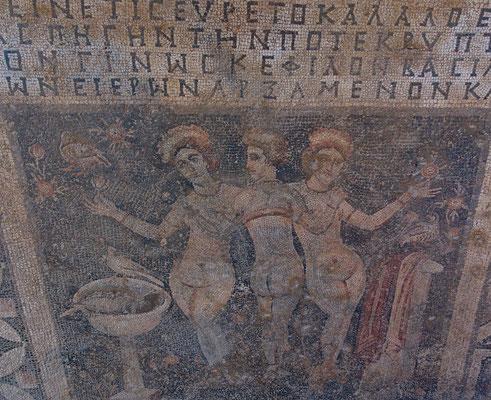 Mosaik der drei Grazien in Narlıkuyu
