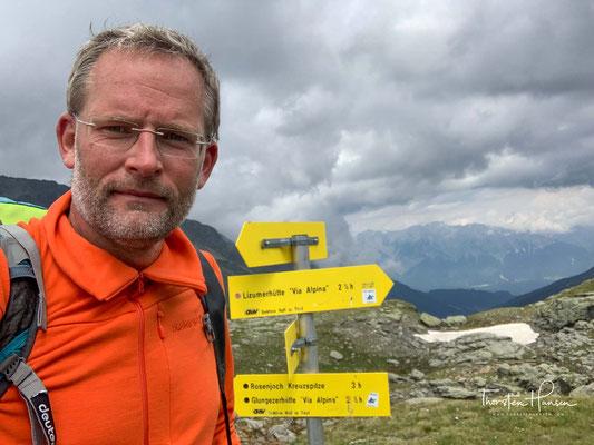 Geschafft! Das Naviser Jöchl auf 2479 m