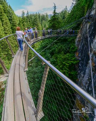 Der Cliffwalk am Cliff des Capilano Canyons