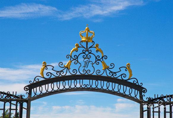 Eingang zu den Sabatini-Gärten in Madrid