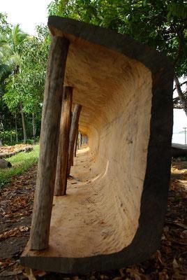 Kanubau im Dorf Korogo