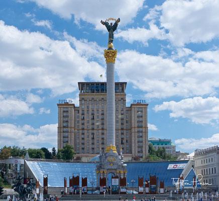 Unabhängigkeitsdenkmal der Ukraine auf dem Majdan Nesaleschnosti