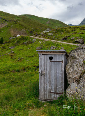 Toilette auf der Steinkasern Alm