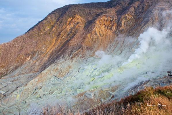 Vulkanische Aktivitäten in Hakone