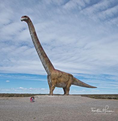 Titanosaurier Kopie in Trelew. Gebaut wurde er in Niedersachsen.