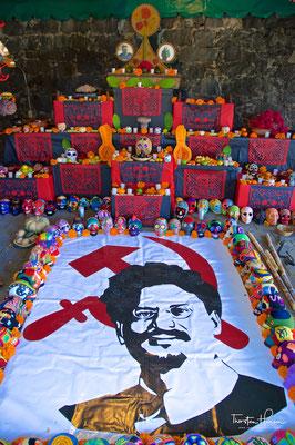 Das Haus, in dem Trotzki ermordet wurde in Coyoacán