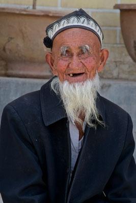 Lachender Mann in Kashgar