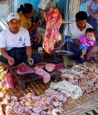 Marktreiben in Myanmar