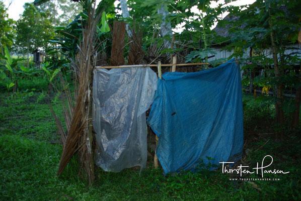 Toilette im Dorf Korogo