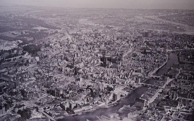 Das nach dem Zweiten Weltkrieg zerstörte Danzig