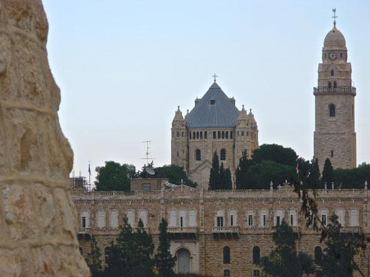 Die Dormitio-Basilika ist eine römisch-katholische Kirche auf dem Berg Zion
