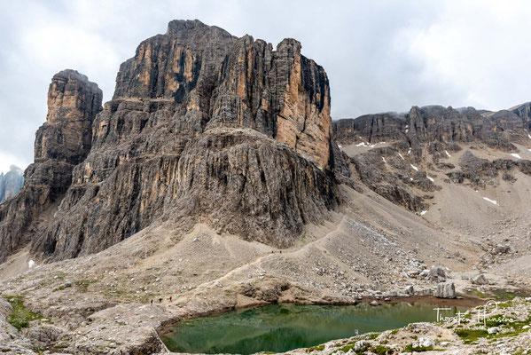 Der 2985m hohe Cima Pisciadù ist der Ausgangspunkt der heutigen Etappe
