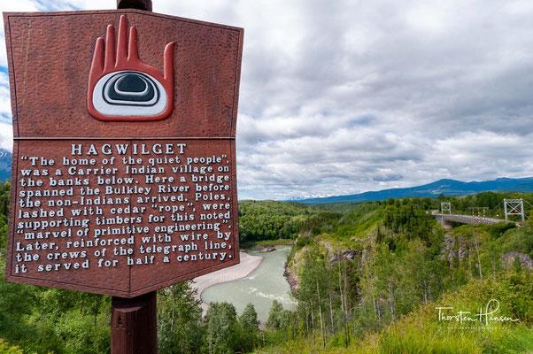 Die Hagwilget Canyon Bridge ist eine Hängebrücke über den Hagwilget Canyon am Bulkley River im Wet'suwet'en-Dorf Hagwilget in British Columbia.